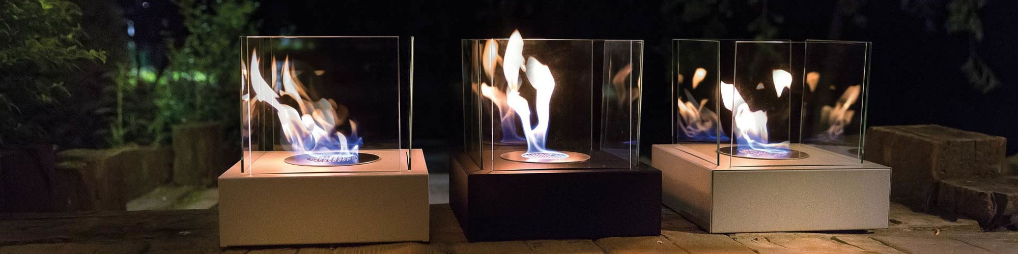 Bioethanol fireplaces for tabletop