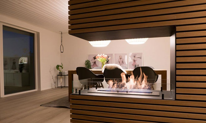 Built-in bioethanol fireplaces