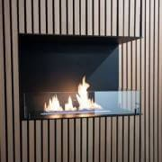 Bioethanol fireplace for the corner