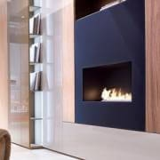One sided bioethanol bio fireplace for built in