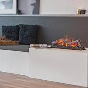 Opti-myst water vapour fireplaces for built-in