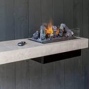wall-mounted water vapour fireplace