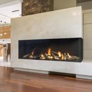 3-sided built in gas fireplace inside