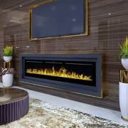 Built-in electric LED fireplace