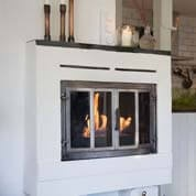Traditional fireplace into a bio fireplace