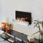 Wall mounted bio fireplace from ebios fire