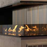 Three sided bio fireplace