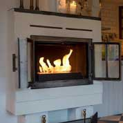 Traditional fireplace with a bio burner