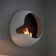 Wallmounted bio fireplace from vauni