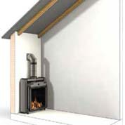 Extractor for gas fireplace