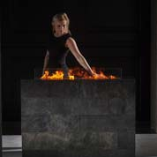 Magic fire opti-myst fireplace