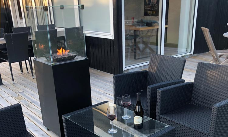 outdoor Malaga gas fire