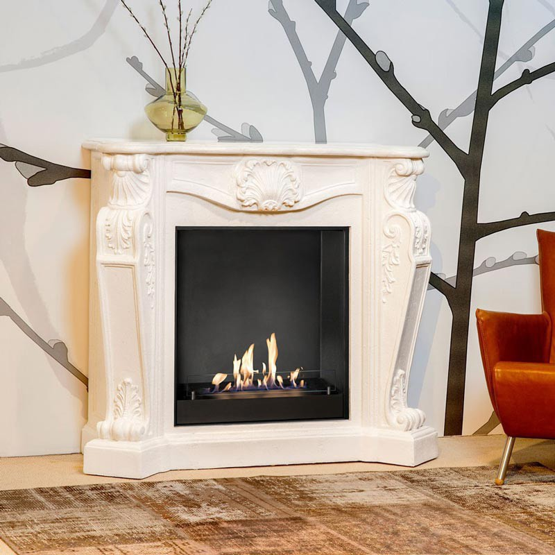 Traditional mantel bioethanol fireplace inspiration for the colder months