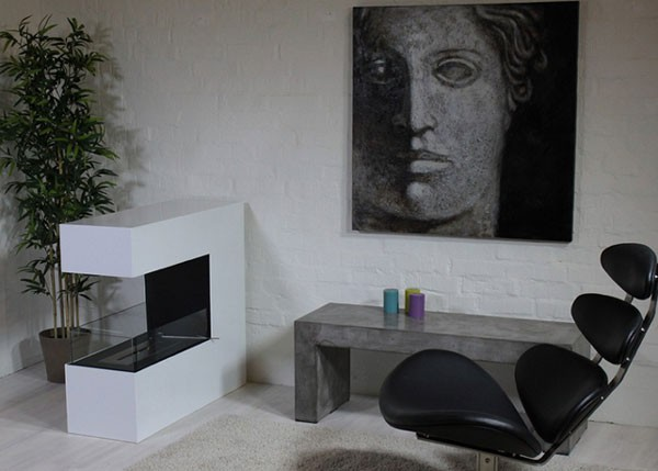 How does a bioethanol fireplace function?