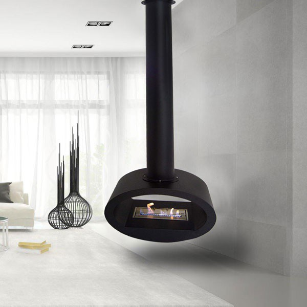 Ceiling mounted bioethanol fires