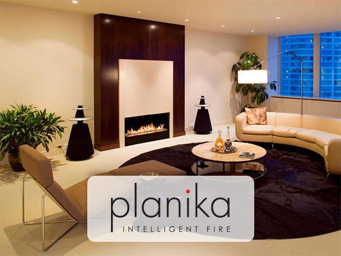Planika built in fireplace