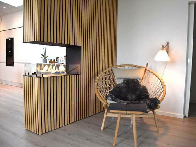 Built-in bioethanol fireplace