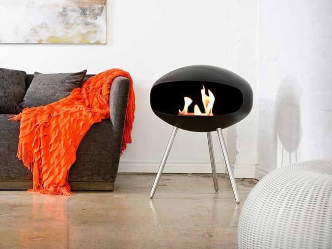 Freestanding Bioethanol Fireplace For Floor Table Or Shelf