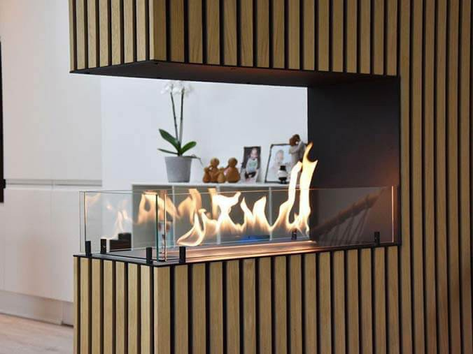 Foco automatic built-in bioethanol fireplace