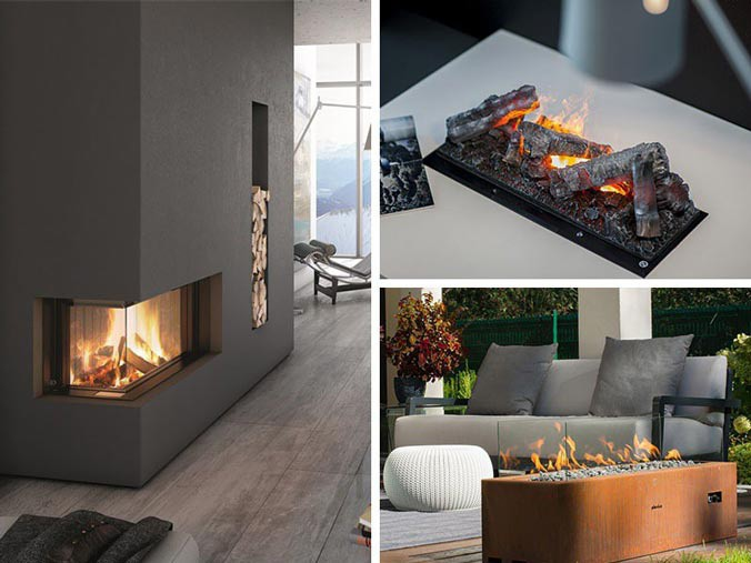 Other fireplaces - Gas fires, Opti-myst and Electric fires