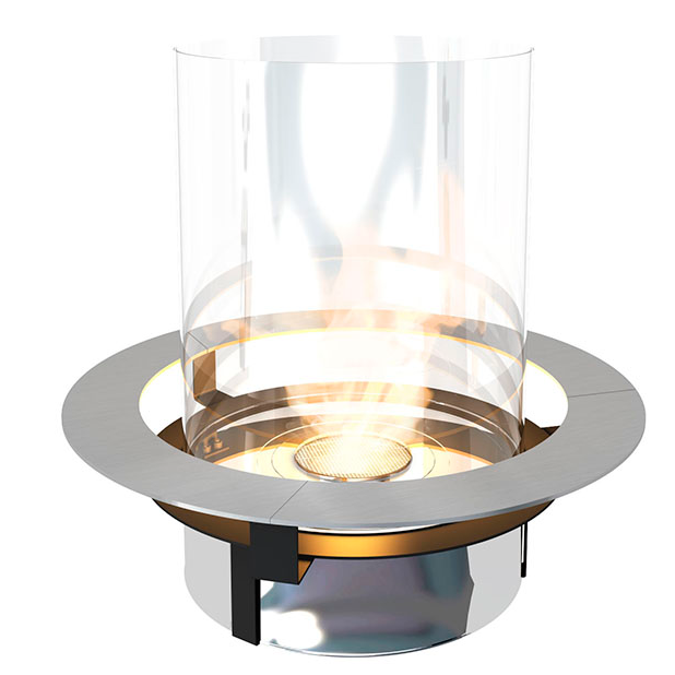 Planika Bioethanol Fire Insert With Contemporary Glass