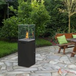 Fuora Q Spartherm outdoor gas fireplace - black