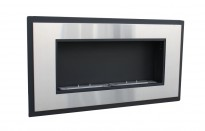 Bio ethanol fireplace with a steel surround and two 1,5 L burners providing up to 4 h of burning.