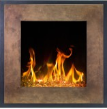 North elektrisk wall-mounted fireplace in bronze