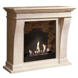Xaralyn Kreta Mini bio fireplace in fossil stone