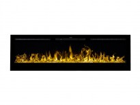 Merseyside black electric fireplace