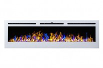 Merseyside white electric fireplace