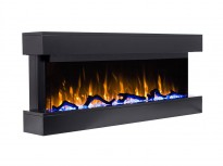 Norfolk electric fireplace for wall in black