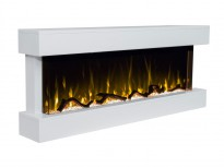 Norfolk electric fireplace for wall in white