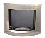 Stainless steel bio fireplace. Multifunctional fire that can be wall mounted or floor standing.