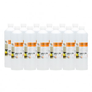 12x1L bottles of liquid bio ethanol fuel, fully approved and certified. Manufactured in Germany.
