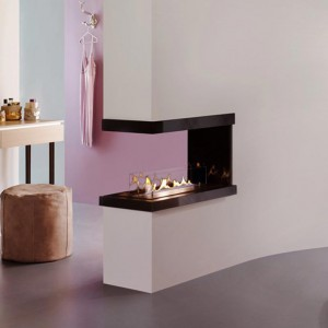 U 3-sided bioethanol fire from Ebios
