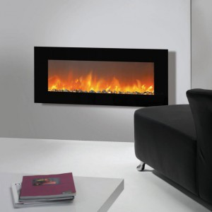 127 cm wide electric fireplace