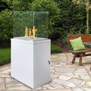 Fuora Q-XL Spartherm outdoor gas fireplace - white