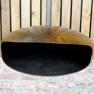 Hein and Haugaard Oxide UFO-50 ceiling-mounted bio fireplace