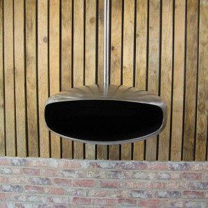 Hein and Haugaard UFO-60 Round-beamed, high-flame bio fireplace in steel