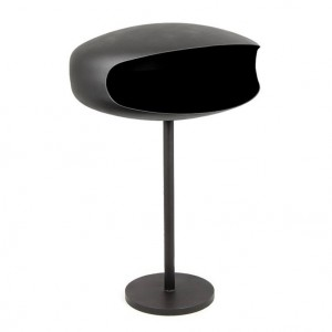 Black, freestanding biofire UFO-60 from Hein & Haugaard