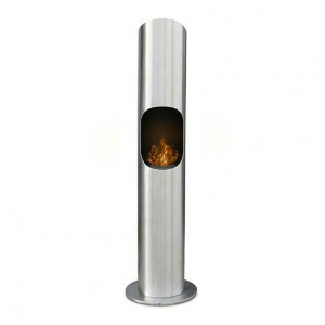 Bio ethanol fireplace designed in cylinder form. Perfect in traditional and modern homes.