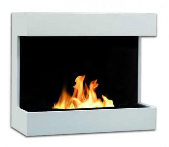 Contemporary bioethanol fireplace in elegant steel. Perfect for the modern home. Dimensions: 65 x 74 x 34 cm