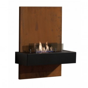 Wall-mounted bioethanol fire Quero