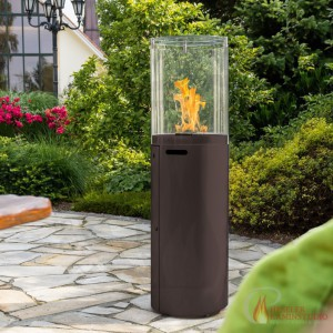 Fuora R Spartherm outdoor gas fireplace - black