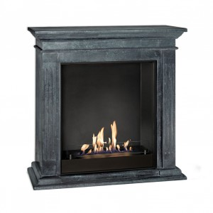 Cadiz black freestanding bio fireplace
